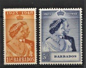 STAMP STATION PERTH  Barbados #210-211 Silver Wedding Set - MNH - CV$20.00