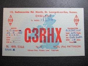 10403 Amateur Radio QSL Card ST LEONARDS-ON-SEA SUSSEX ENGLAND