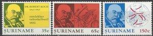 Suriname  603-5   MNH  Dr. Robert Koch TB Bacillus
