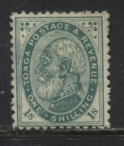 Tonga1888 1/ blue green unused no gum