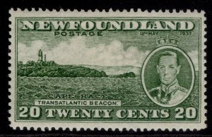 CANADA - Newfoundland GVI SG264, 20c green, M MINT. Cat £11.