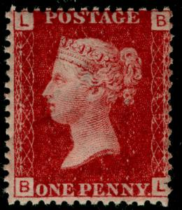 SG43, 1d rose-red PLATE 145, NH MINT. Cat £45+ BL