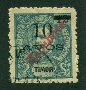 Timor 1913 #130 U SCV(2020)=$4.00