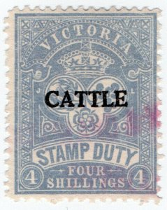 (I.B) Australia - Victoria Revenue : Cattle Duty 4/-