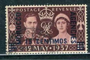 G. B. Morocco Spanish: 1937: Sc. # 82: O/Used Cpl. Set