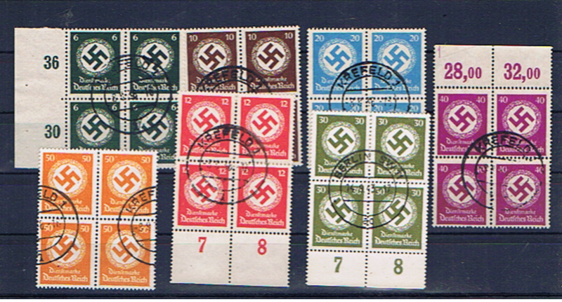 GERMANY 1934 OFFICIALS IN BLOCKS OF FOUR