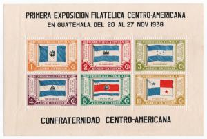 (I.B) Guatemala Cinderella : First Philatelic Exhibition (1938)