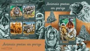 Sao Tome and Principe 2016 fauna engarde wild animals klb+s/s MNH