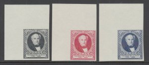 Great Britain MNH. c. 1880 Thomas de la Rue Portrait, Matched Sheet Corner VF
