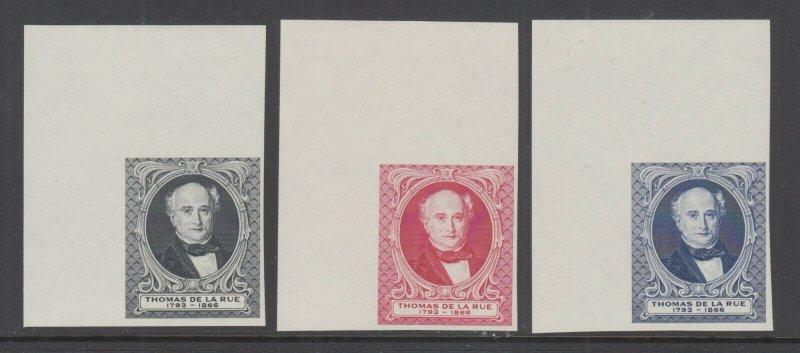 Great Britain MNH. c. 1880 Thomas de la Rue Portrait, Matched Sheet Corner VF