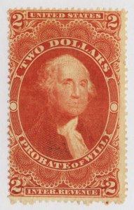 B94 U.S. Revenue Scott R83c $2 Probate of Will embossed cancel SCV=$90