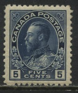 Canada KGV Admiral 5 cents blue VF mint o.g.