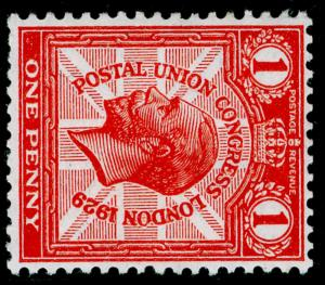SG435a, 1d scarlet, M MINT. Cat £95. WMK SIDE