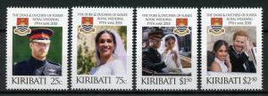Kiribati Royalty Stamps 2018 MNH Prince Harry & Meghan Royal Wedding 4v Set