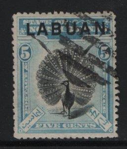 LABUAN, 77, USED, 1897-1900, ARGUS PHEASANT