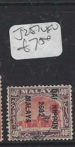MALAYA JAPANESE OCCUPATION SELANGOR (P0905B) 40C DN  SG J 257   VFU