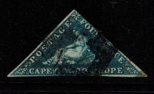 Cape of Good Hope SG# 6 - Used / Small Shallow Thin - Lot 090417