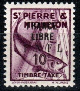 St Pierre & MIquelon  #J58 MNH  CV $52.50 (X9461)