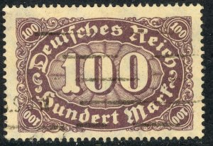 GERMANY 1922-23 100m Numeral of Value Issue Sc 199 VFU
