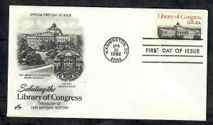 2004 Library of Congress Unaddressed ArtCraft FDC