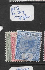 MALAYA NEGRI SEMBILAN  (P0907B) TIGER 1C-5C  SG 2-4   MOG