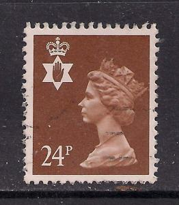Northern Ireland GB 1991 QE2 24p Chestnut Machin SG NI 58 ( C969 )