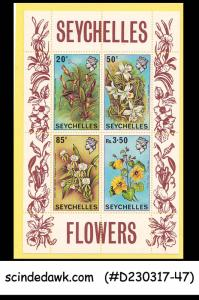 SEYCHELLES - 1970 FLOWERS - Miniature sheet MINT NH