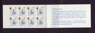 Sweden Sc 1589a 1986 350 years Post Office stamp booklet NH