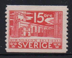 Sweden Sc 244 1935 15 ore Church stamp mint