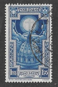 Italy # 313   St. Peter's Dome   1.25-lire  1933  (1)  Used
