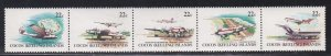 Cocos Islands # 72a, Air Service Inauguration, Folded, NH, 1/2 Cat.