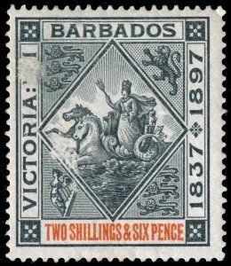 Barbados - Scott 89 - Mint-Hinged - Thins on Front