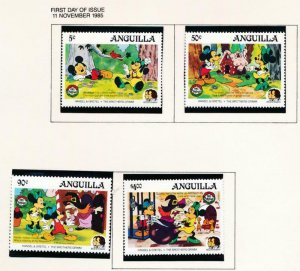 DISNEY ANGUILLA 648-651 MINT NH HANSEL & GRETAL