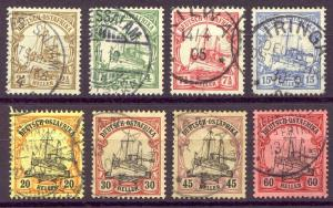 GERMAN EAST AFRICA #22-29 Used - 1905 Yacht Set