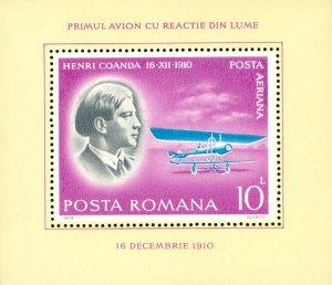 RK4-0061 ROMANIA C230 MNH SS  BIN $2.00 AIRPLANE