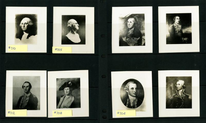 US #704-15 Set of Original Photos famous people