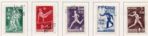Finland Sc B69-73 1945 Sports charity stamp set used
