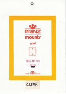 PRINZ CLEAR MOUNTS 185X151 (5) RETAIL PRICE $10.50