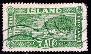 Iceland Stamp 1925 Landscapes USED 7 AUR STAMP