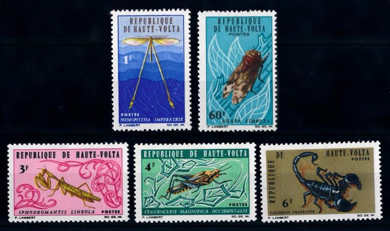 [65616] Burkina Faso Upper Volta 1966 Insects  MLH
