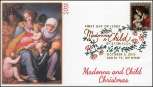 18-270, 2018, Madonna and Child, Digital Color Postmark, First Day Cover,