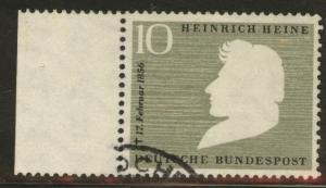 Germany Scott 740 used 1956 Heinrich Heine stamp
