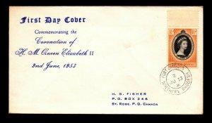 Southern Rhodesia 1953 QEII Coronation FDC - L13156