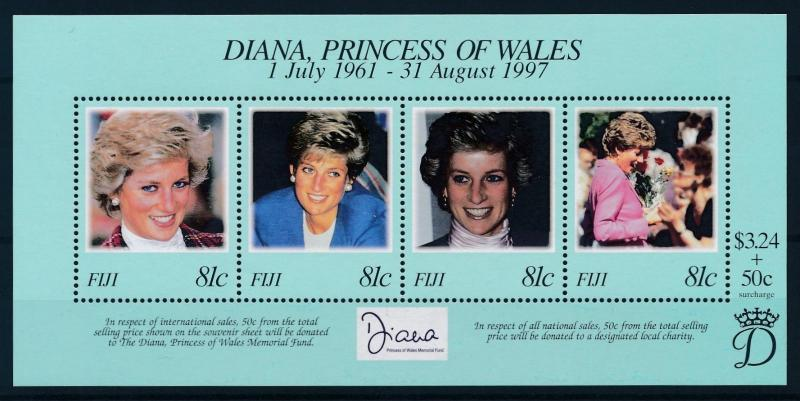 [95302] Fiji 1998 Royalty Princess Diana Sheet MNH