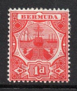 Bermuda 1906 Asciugare Dock 1d Rosso Wmk Mcca Sg 38 come Nuovo