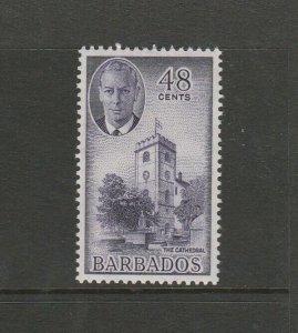 Barbados 1950 defs 48c MM SG 279