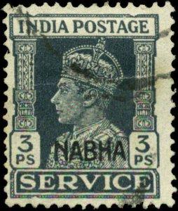 India, Convention States, Nabha Scott #O40 SG #O55 Used