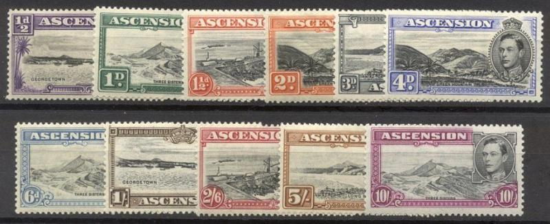 ASCENSION #40//49 Mint NH - 1938 K G VI Issue
