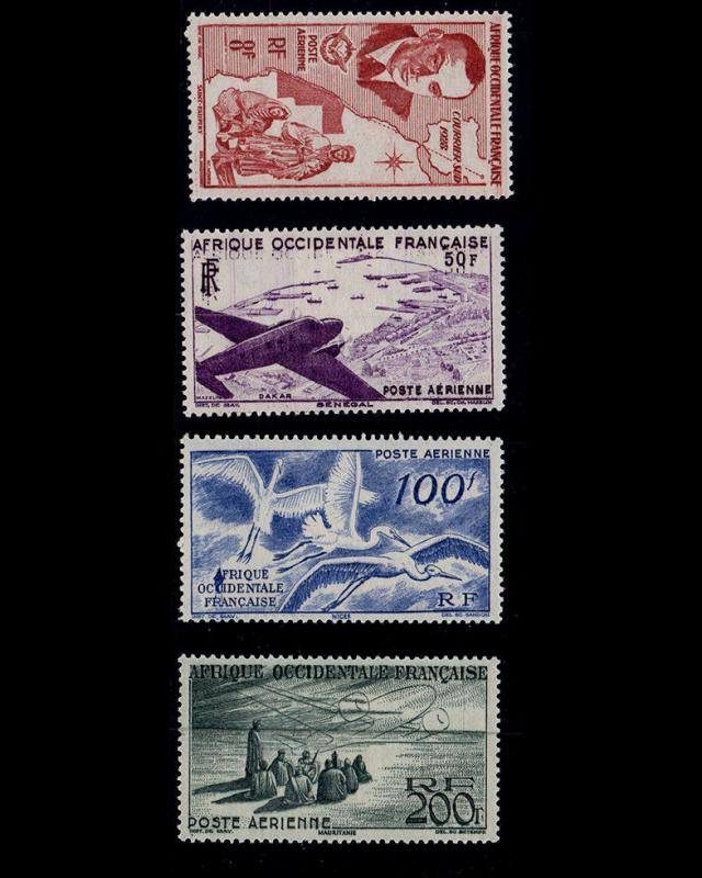 VSM:FRENCH W AFRICA 1947 OG,LH SCT # C11-C14 $ 35.10 LOT # VSAFWAFR1947MM-B90