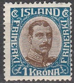 Iceland #126  Unused CV $110.00